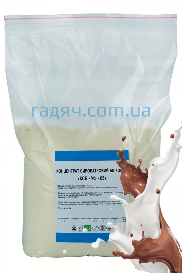 Концентрат сывороточного белка (протеин) Гадяч 65% (молочный-шоколад)