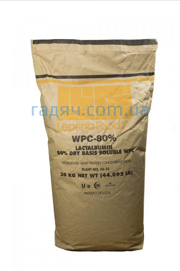 Американский протеин (КСБ 80) Leprino Foods WPC 80 (без вкусов, 20 кг)